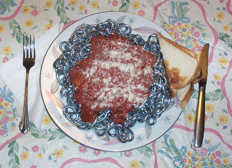cursed image or food served in chains