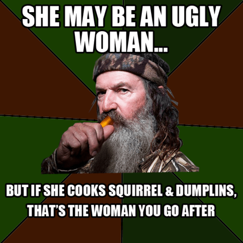 hillbilly meme about what rednecks look for in a woman