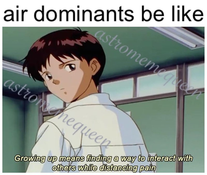 meme - Cartoon - air dominants be like astromemegoegr astronghequeen Growing up means finding a way to interact with others while distancing pain
