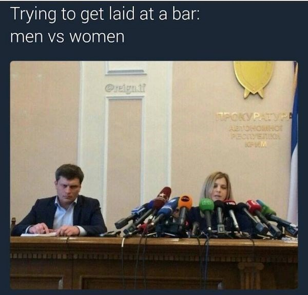 trying to get laid at a bar girls vs boys