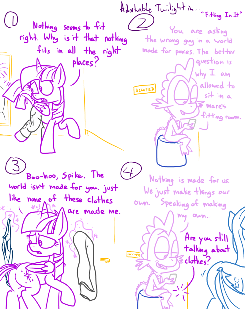 spike twilight sparkle minuette comic adorkable twilight and friends - 9141344768