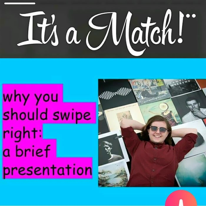 Text - Its a Match! WLKEND why you should swipe right: a brief presentation