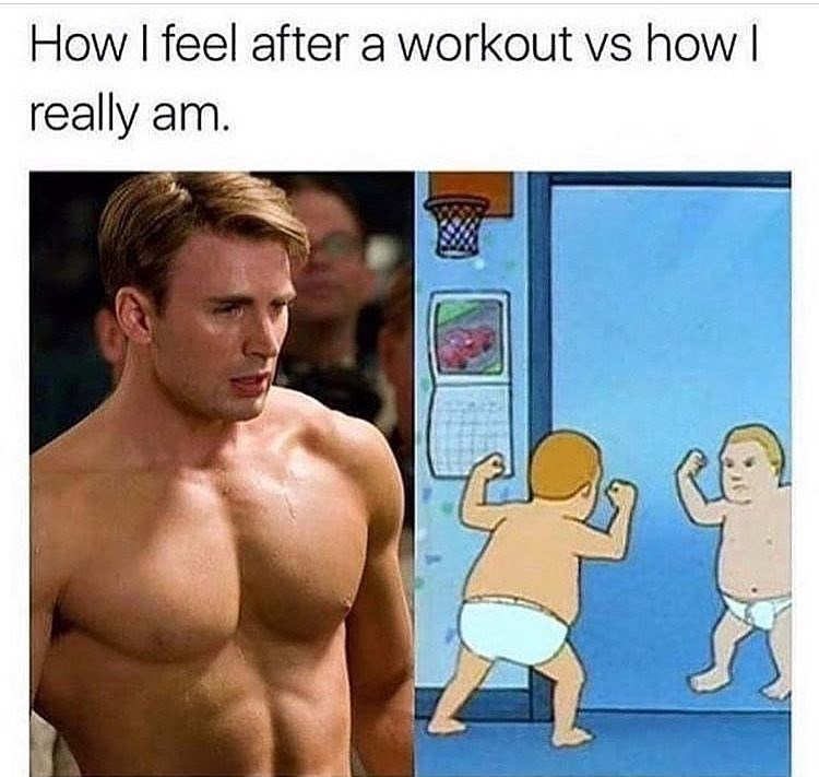 Funny meme about working out.