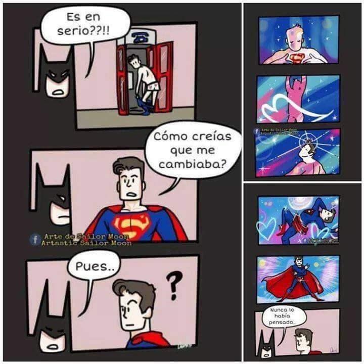 cuando superman se transforma en sailor moon