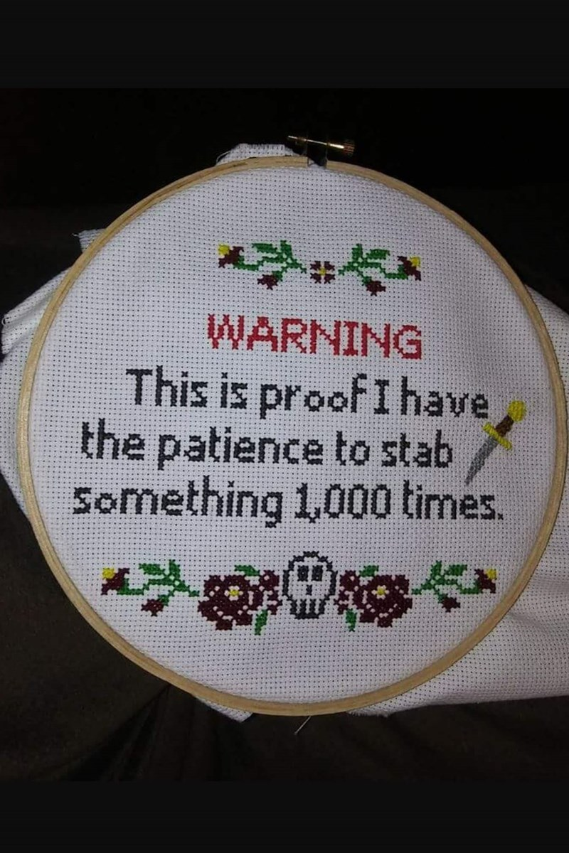 Needlework - WARNING This is proof I have the patience to stab Something 1,000 times.