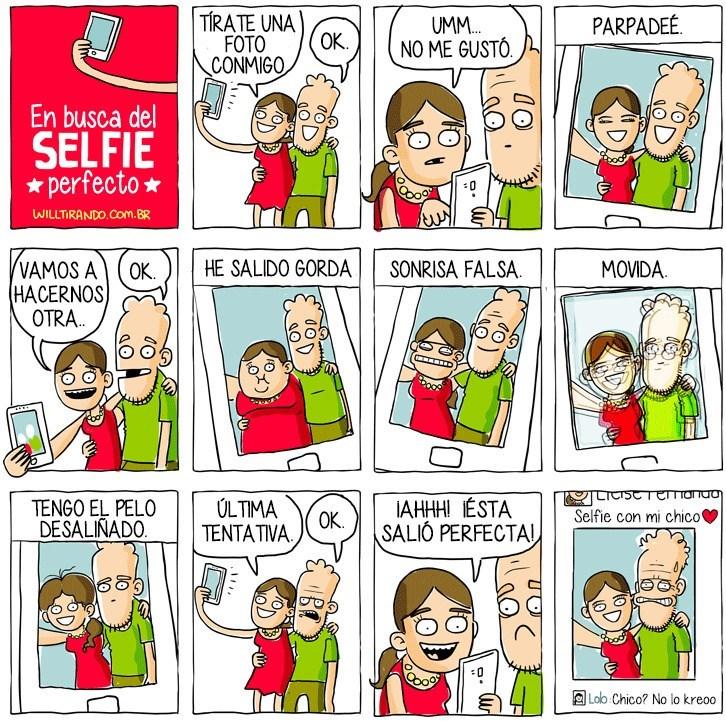cuando quieres esa perfecta selfie con tu pareja