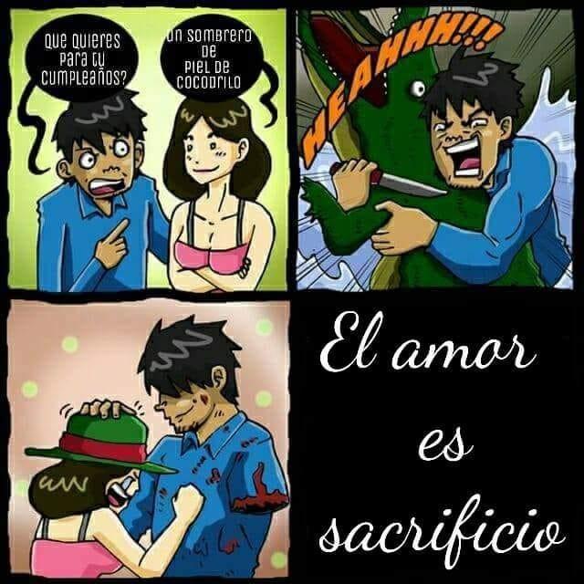 el amor es sacrificio vineta