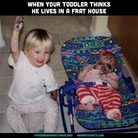 Child - WHEN YOUR TODDLER THINKS HE LIVES IN A FRAT HOUSE BOA MOMMYSHORTS.COM AVERAGEPARENTPROBLEMS