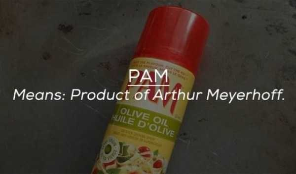 Product - PAM Means: Product of Arthur Meyerhoff. OLIVE OIL HUILE D'OLIVE