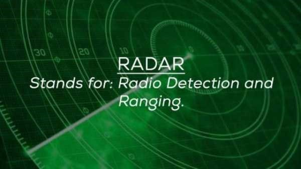 Green - 30 20 10 RADAR Stands for: Radio Detection and Ranging.