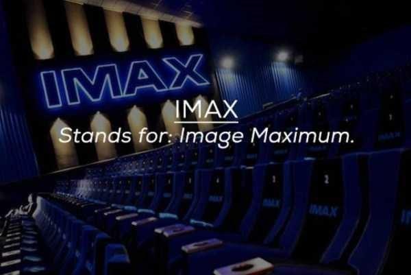 Auditorium - IMAX IMAX Stands for: Image Maximum. MAX