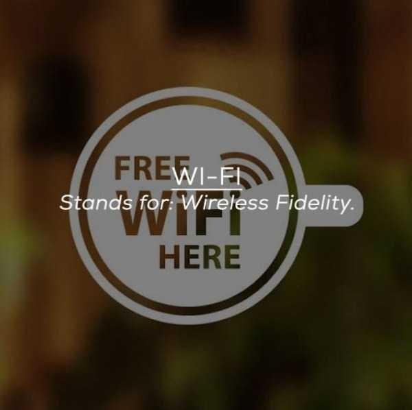 Logo - FREWI-FI Stands for Wireless Fidelity. HERE