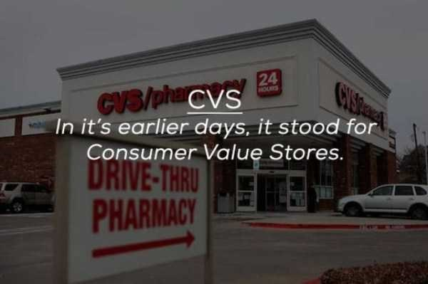 Property - 24 CYSR cVs/phaCvs In it's earlier days, it stood for Consumer Value Stores. HOURS DRIVE-THRU PHARMACY