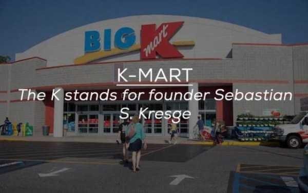 Building - BIOK K-MART The K stands for founder Sebastian S. Kresge a