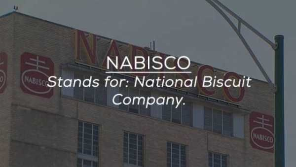 Banner - NABISCO NABISCStands for: National Biscuit Company. MABISCO