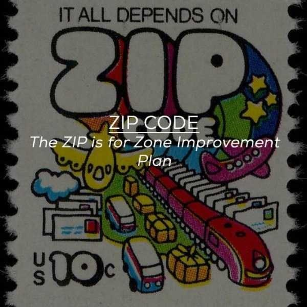 Text - IT ALL DEPENDS ON ZIP CODE The ZIP is for Zone Improvement