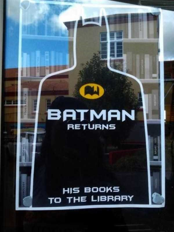 librarian meme - Poster - BATMAN RETURNS HIS BOOKS TO THE LIBRARY KITNOD SPORT
