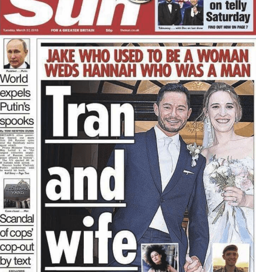 Magazine - on telly Saturday TaknwaywiD d FIND OUT HOW ON PAGE7 sop Tuesday, March 22 2018 FOR A GREATER BRITAIN thesun.co.uk JAKE WHO USED TO BE A WOMAN WEDS HANNAH WHO WAS A MAN P P World expels Putin's Tran and wifea spooks y TOM NEWrON OURN PRETAINS avar eibry i g wack द। May balod e the US eted nut gder Vmi Pules spmn YARD Cnc M Scandal of cops' cop-out by text XCUSIVE