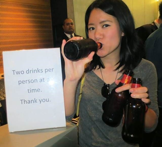 Photography - Two drinks per person at time. Thank you.