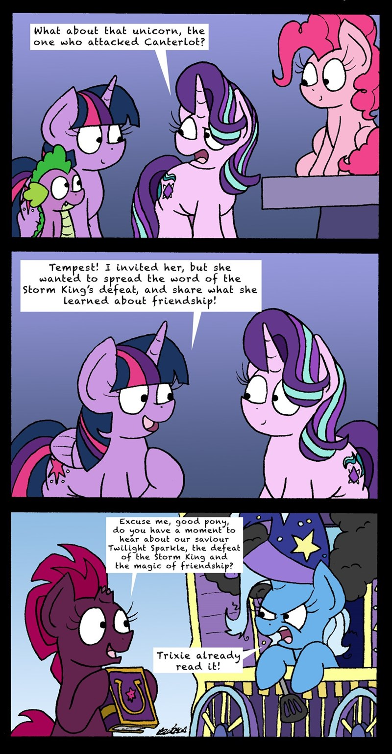 spike tempest shadow the great and powerful trixie bob the dalek starlight glimmer twilight sparkle pinkie pie comic school daze - 9143870464
