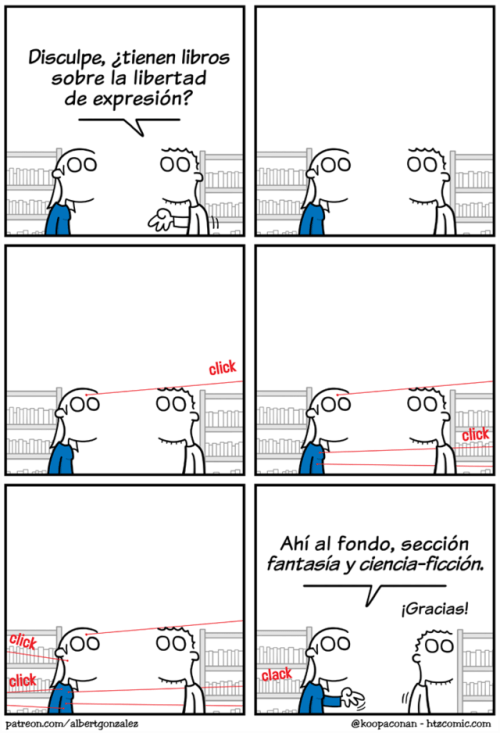comic que trata la libertad de expresion como ciencia ficcion