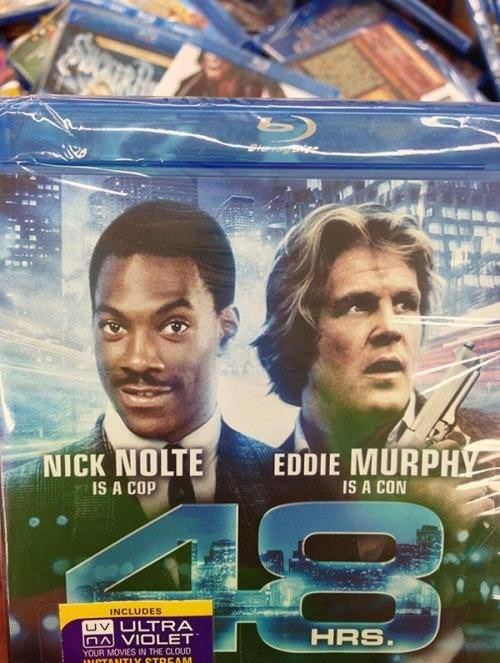 Movie - EDDIE MURPHY NICK NOLTE IS A CON IS A COP INCLUDES UV ULTRA nAVIOLET YOUR MOVIES IN THE CLOUD ICTANTIY STREAM HRS.