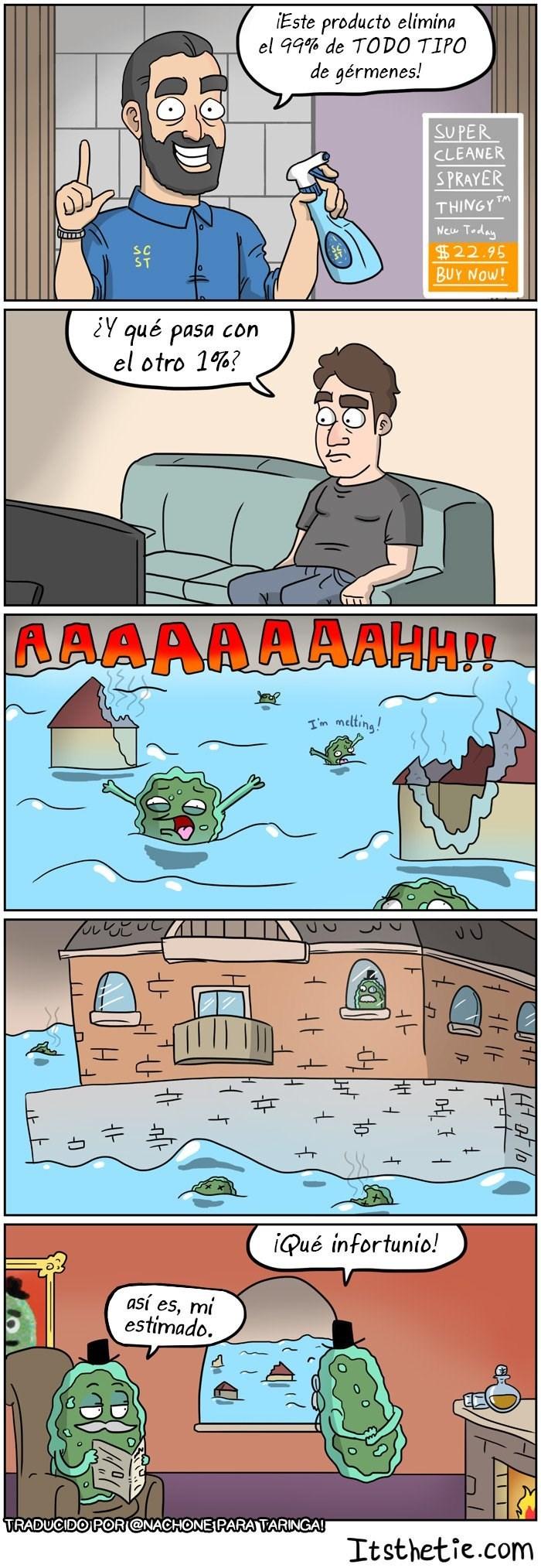 comic sobre el poder de un producto antibacterial