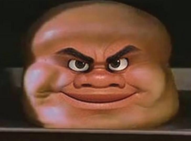 fat round cartoon face
