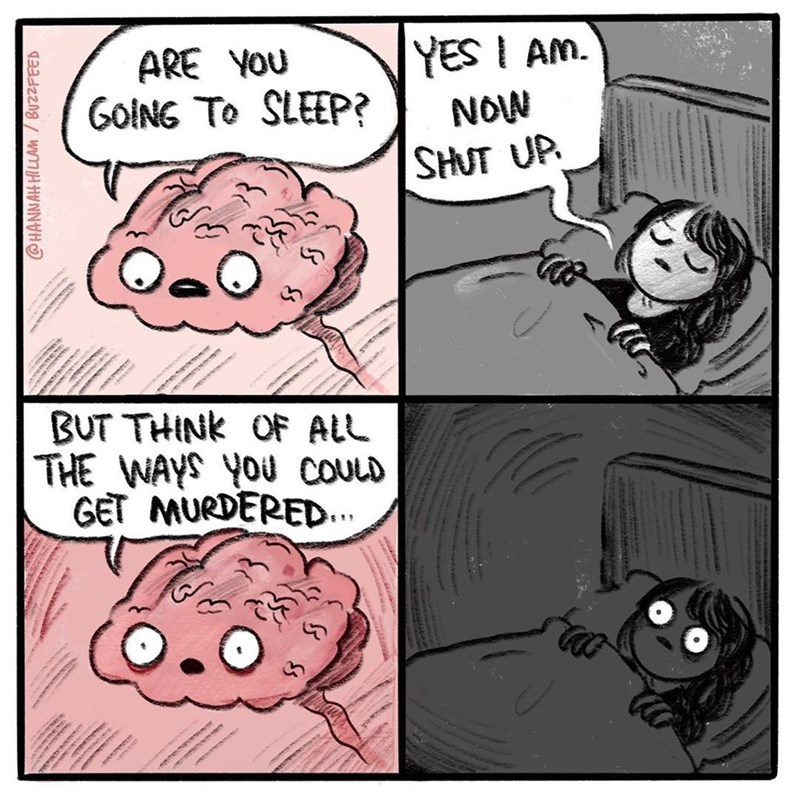 Funny web comic about sleeping.