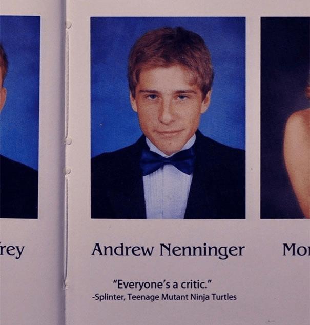 "Text - rey Andrew Nenninger Мо ""Everyone's a critic."" -Splinter, Teenage Mutant Ninja Turtles"