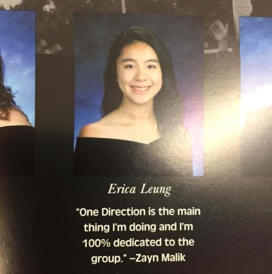 "Face - Erica Leung ""One Direction is the main thing I'm doing and I'm 100% dedicated to the group."" -Zayn Malik"