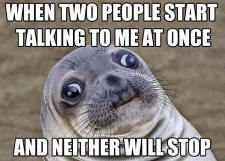 Seal - WHEN TWO PEOPLE START TALKING TO ME AT ONCE AND NEITHER WILL STOP