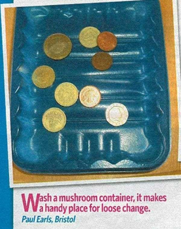 ash a mushroom container, it makes Wahandy place for loose change. Paul Earls, Bristol