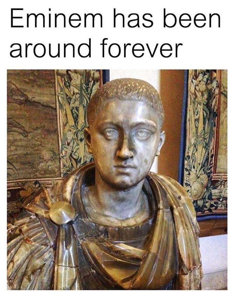 Funny meme about eminem.