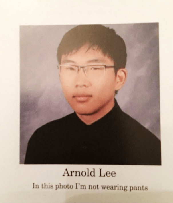 Forehead - Arnold Lee In this photo I'm not wearing pants