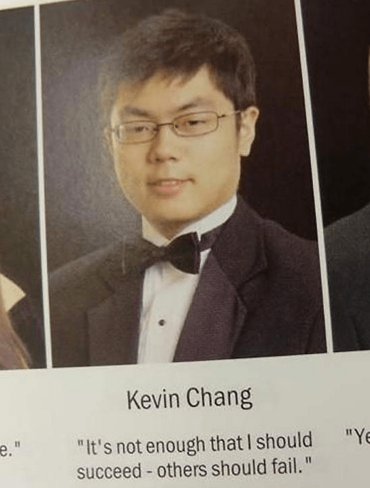"Forehead - Kevin Chang ""Ye ""It's not enough that I should succeed others should fail. е."""