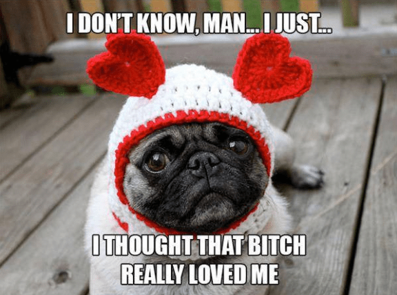 Pug - I DONT KNOW, MAN... I JUST... OTHOUGHT THAT BITCH REALLY LOVED ME