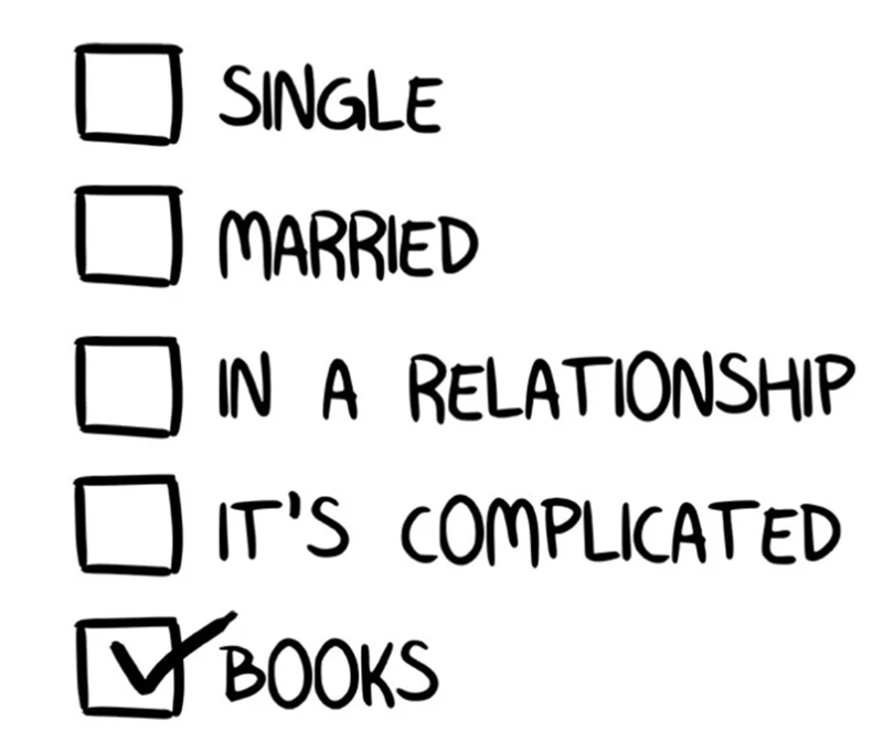 Text - SINGLE MARRIED IN A RELATIONSHIP IT'S COMPLICATED BOOKS