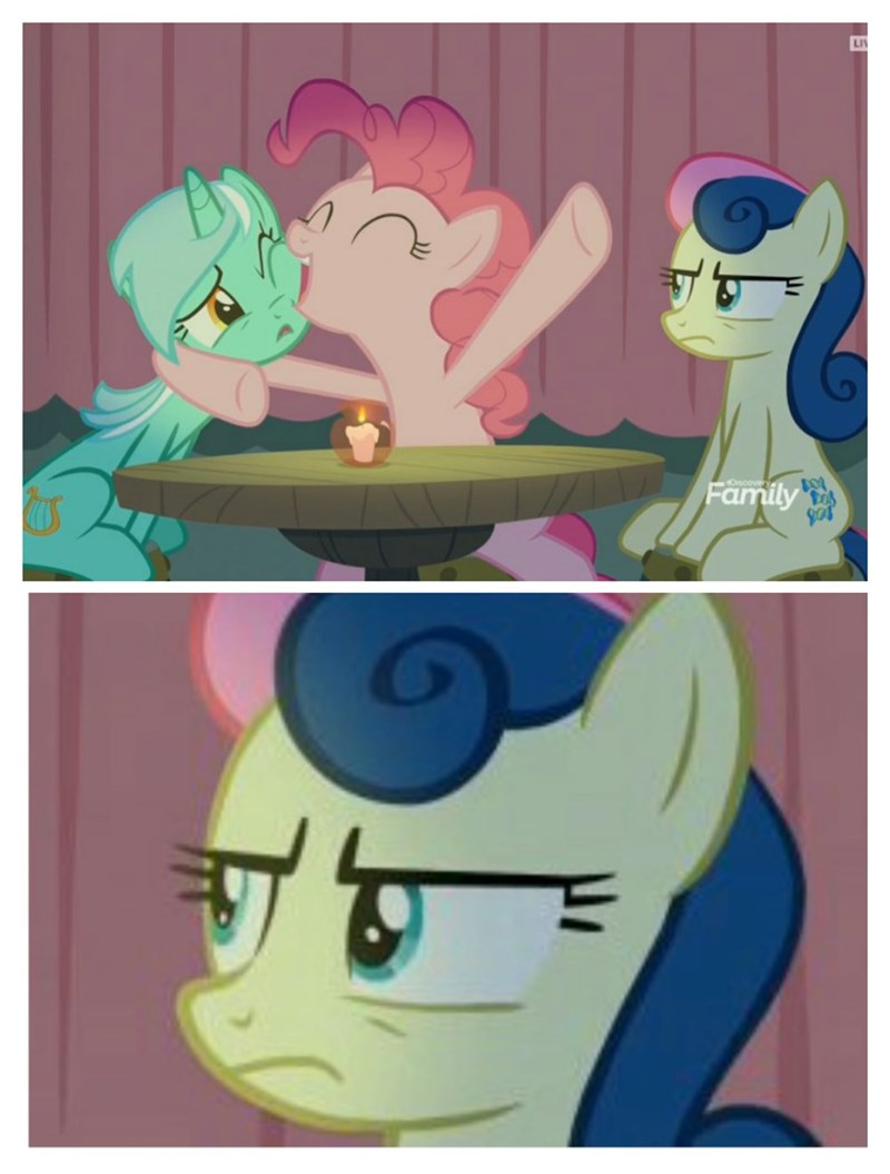 the maud couple screencap lyra heartstrings pinkie pie comic bon bon - 9146973696