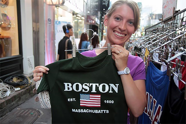 T-shirt - LAN BOSTON EST. 1600 MASSACHUBATTS