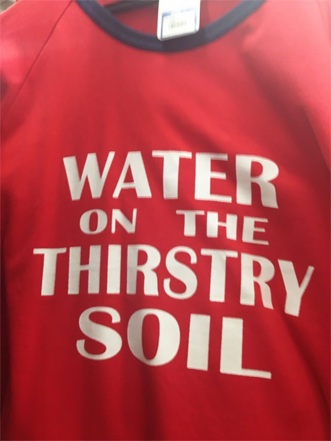 Red - WATER ON THE THIRSTRY SOIL