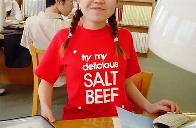 T-shirt - try my delicious SALT BEEF