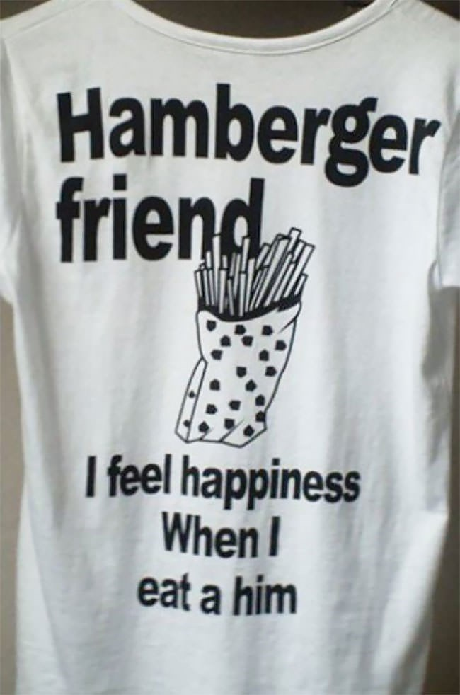 White - Hamberger friend I feel happiness When eat a him