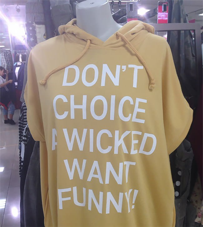 Clothing - DON'T CHOICE AWICKED WANT FUNNY