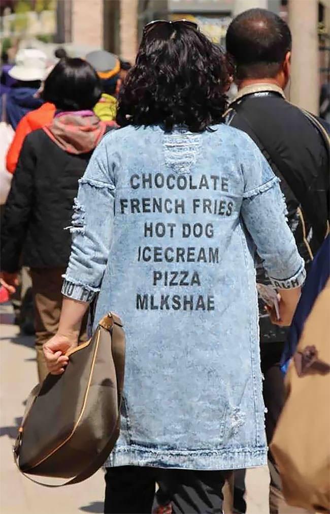 Jeans - CHOCOLATE FRENCH FRIES HOT DOG ICECREAM PIZZA MLKSHAE