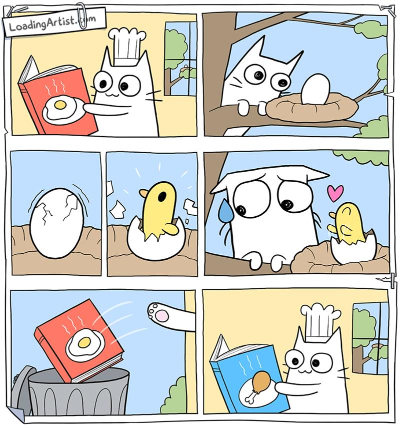chico encuentra huevo pero se crece