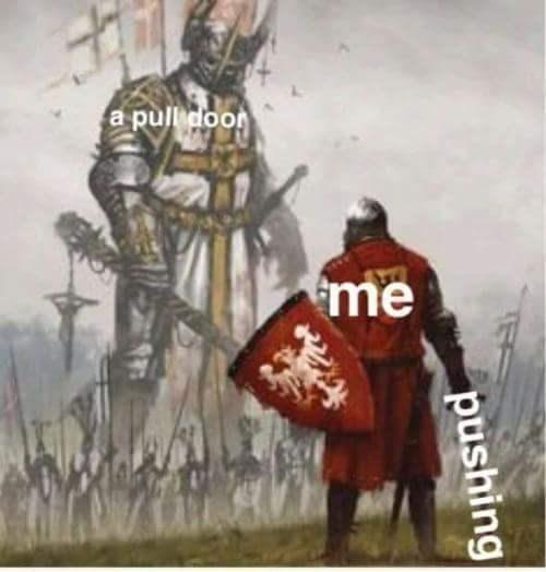 Conquistador - a pulli door me pushing