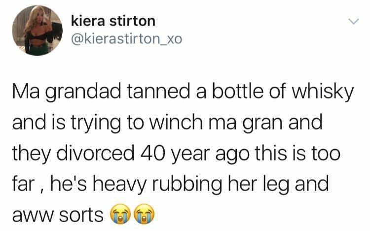 sunday meme about a drunk grandpa