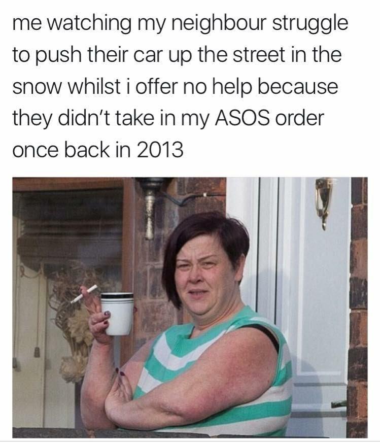 sunday meme about bad neighbors