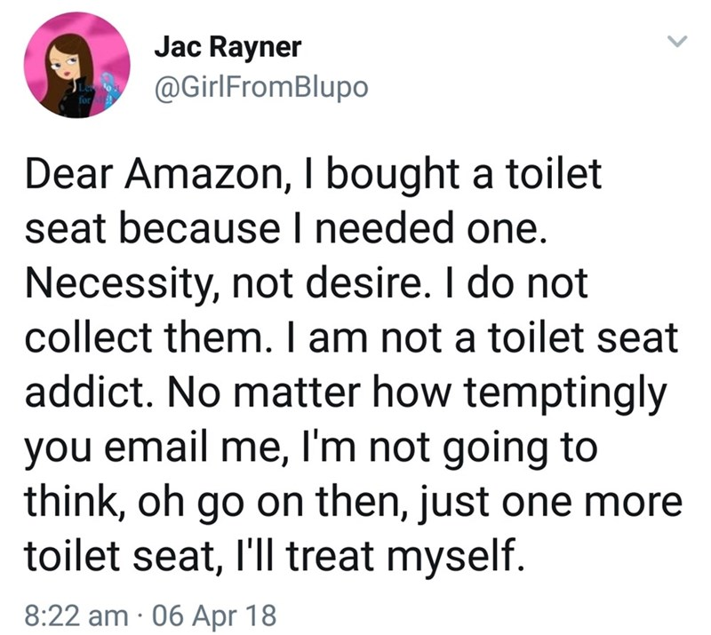 Amazon comment about toilet purchasing habit that we can all relate to - Amazon comment i8ajqlu2z